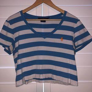 Cropped Ralph Lauren Striped Shirt!